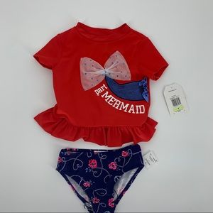 NWT FLAPDOODLES Girls Two-piece Swimsuit